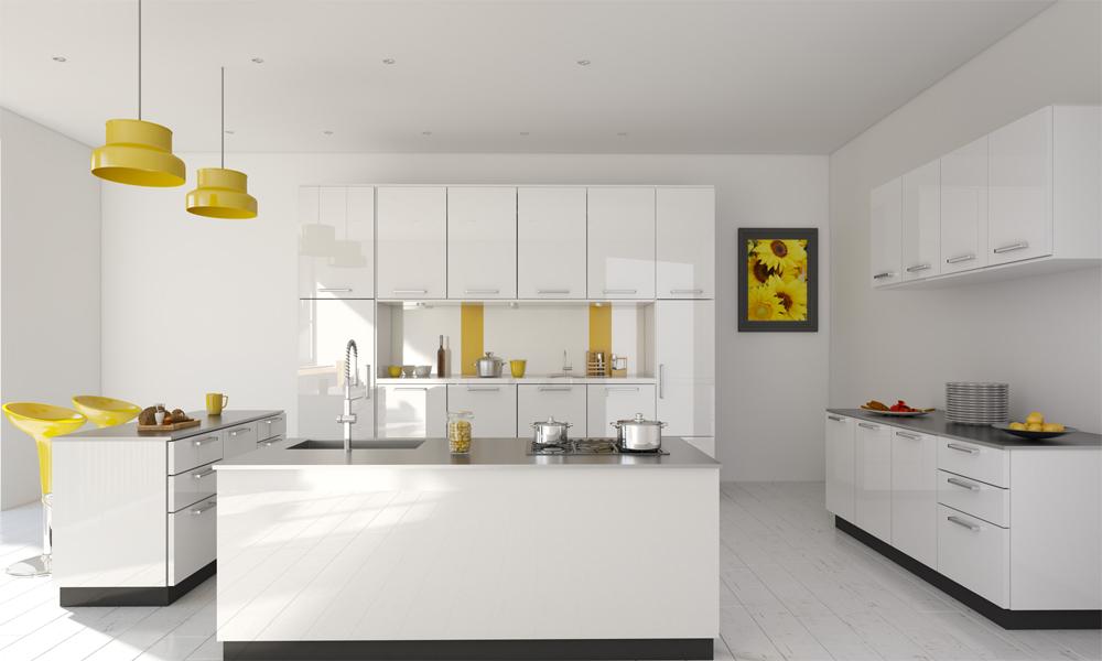 Island type modular kitchen