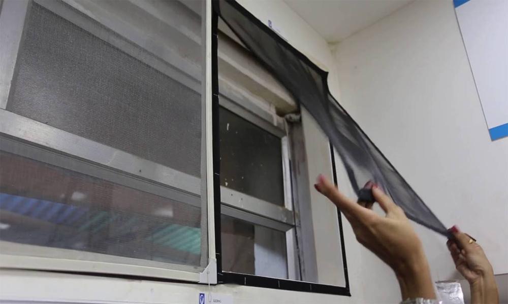 Velcro mosquito screen